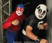 Hormiga Atómica y Súper Panda lucieron en la López #VIDEO