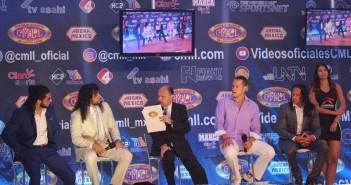 Presentación 85 aniversario CMLL. Foto: Jorge Hernández